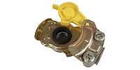 Coupling for trailers DIN 74342, yellow (Brake line)