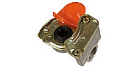 Coupling for tractor unit DIN 74254, red (Supply line)