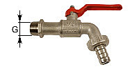 Discharge ball valve with hose connection coupling