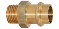 Bronze pressfitting, Straight adaptor