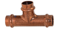 Copper pressfittings, Tee