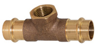 Bronze pressfitting, Tee