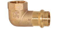 Bronze pressfittings, Elbow 90°