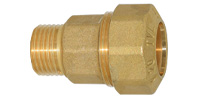 Straight coupler with external thread