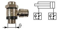 Throttle check valve