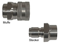 High Pressure-Quick-acting coupling Type: stainless steel