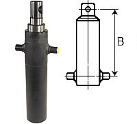 Telescopic cylinders (suspension B)