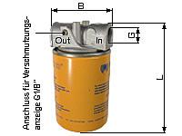 Cartridge intake filters for pipe mounting