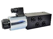 6/2-Directional valve, M18x1,5, 80 l/min