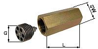 Hose/Pipe-break Protection, 2x female thread