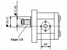 Front view - Technical drawing