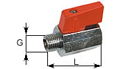 MINI-low pressure ball stop valve with female thread/ male thread