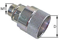 Screw-on coupling Type: HK-S / Male tip