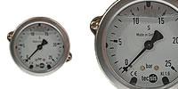 Glycerine Pressure gauge Ø 63 mm with Mounting bracket