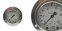 Glycerine Pressure gauge Ø 63 mm with mounting flange