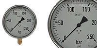 Glycerine Pressure gauge Ø 100 mm with Mounting bracket