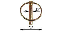 Linch pin Similar to DIN 11023