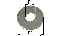 Large diameter washer DIN 9021