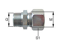 Male Stud Couplings with tapered RohrThread