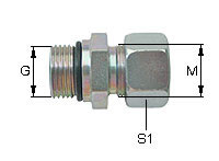 Male Stud Couplings Type GE with UNF-Thread
