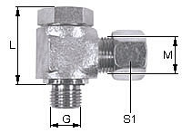 Banjo Elbow coupling, metric