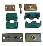 Pipe clamps and parts